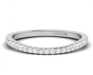 D36015 Claw Set Diamonds Half Eternity Ring-1