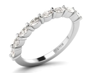 F2.4R0528 Marquise Diamonds Half Eternity Ring