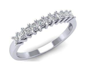 FR0141 0.30 carat Princess Cut Diamonds Half Eternity Ring in White Gold Fine Diamonds R us.jpg