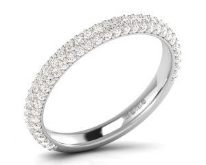 A33081-3 Pave Set Diamonds Half Eternity Ring