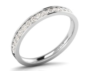 Earthstar Diamonds F2.5R1032 Pave Round Diamonds Set Half Eternity Ring in White Gold