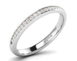Earthstar Diamonds F25R2018 Pave Set Round Diamonds Half Eternity Ring in White Gold