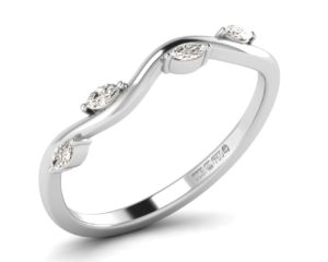 Earthstar Diamonds F3.0R1056 Claw Set Marquise Diamonds Half Eternity Ring in White gold