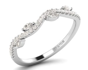F3R1059 Claw Set Round Diamons Half Eternity Ring-1