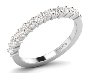 Earthstar Diamonds FR0807 Claw Set Round Diamonds Half Eternity Ring in White Gold
