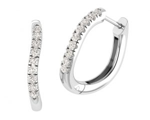 Earth Star Diamonds EE0872 Diamonds Hoop Earrings in White Gold
