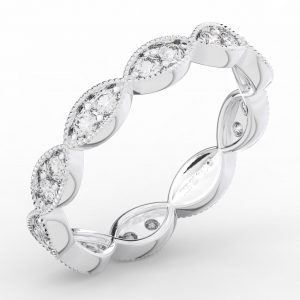 Earthstar Diamonds F35R2034 Pave Set Full Eternity Ring in White Gold