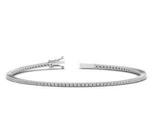 Earth Star Diamonds FB01021 Claw Set Round Brilliant Cut Diamonds Tennis Bracelet in White Gold