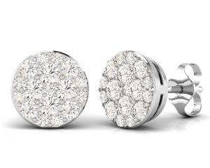 Earth Star Diamonds FE0909 Round Brilliant Cut Diamonds Studs in White Gold