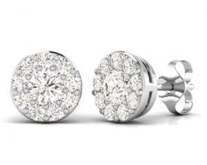 Earth Star Diamonds FE0910 Round Brilliant Cut Diamonds Studs in White Gold