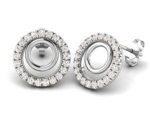 Earth Star Diamonds FE0912 Round Brilliant Cut Diamonds Studs in White Gold