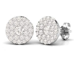 Earth Star Diamonds FE0913 Round Brilliant Cut Diamonds Studs in White Gold
