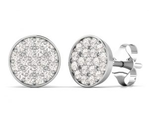 Earth Star Diamonds FE0914 Round Brilliant Cut Diamonds Studs in White Gold