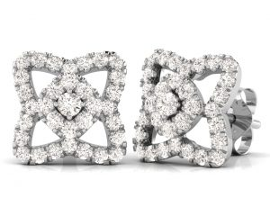 Earth Star Diamonds FE0915 Round Brilliant Cut Diamonds Studs in White Gold