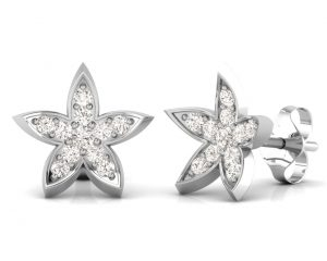 Earth Star Diamonds FE0918 Round Brilliant Cut Diamonds Studs in White Gold