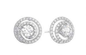 Earth Star Diamonds FE0938 Round Brilliant Cut Diamonds Studs in White Gold