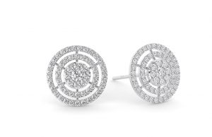 Earth Star Diamonds FE0947 Round Brilliant Cut Diamonds Stud in White Gold