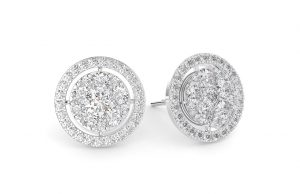 Earth Star Diamonds FE0948 Round Brilliant Cut Diamonds Studs in White Gold