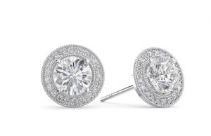 Earth Star Diamonds FE0950 Round Brilliant Cut Diamonds Studs in White Gold