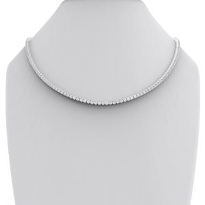 Earth Star Diamonds FNK00623 Diamond Tennis Necklace in White Gold