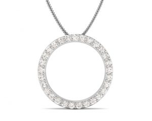 Earth Star Diamonds FP0309 Pave Set Diamond Eternity Designer Pendant in White Gold