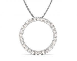 Earth Star Diamonds FP0309 Pave Set Diamond Eternity Designer Pendant in White Gold