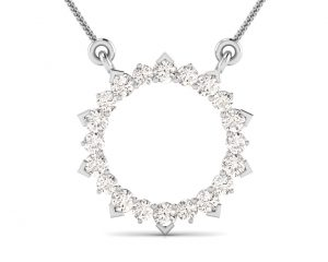 Earth Star Diamonds FP0311 Claw Set Diamond Eternity Pendant in White Gold