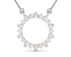 Earth Star Diamonds FP0311 Claw Set Diamond Eternity Pendant in White Gold
