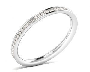 Earth Star Diamonds FR05742 Channel Set Full Eternity Ring in White Gold