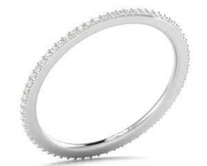 Earth Star Diamonds FR063615 Pave Set Round Diamonds Full Eternity Wedding Ring in White Gold