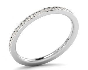 Earth Star Diamonds FR063715 Pave Set Round Brilliant Cut Diamonds Full Eternity Ring in White Gold