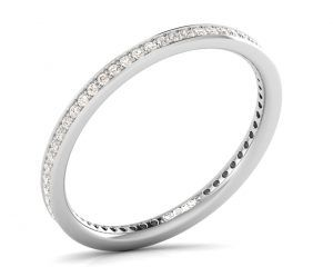 Earth Star Diamonds FR07382 Pave Set Half Eternity Ring in White Gold