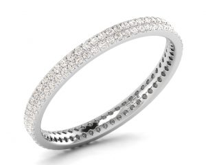 Earth Star Diamonds FR075725 Prong Set Full Eternity Ring in White Gold