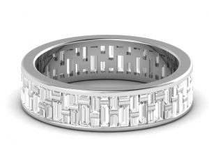 Earth Star Diamonds FR0758B Channel Set Full Eternity Ring in White Gold