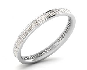 Earth Star Diamonds FR079725 Channel Set Full Eternity Ring in White Gold