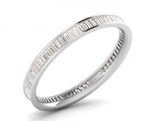 Earth Star Diamonds FR079725 Channel Set Full Eternity Ring in White Gold