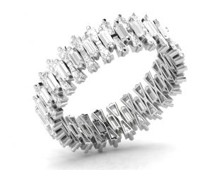 Earth Star Diamonds FR0867 Claw Set Full Eternity Ring in White Gold