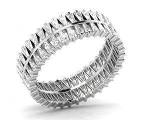 Earth Star Diamonds FR0870 Claw Set Full Eternity Ring in White Gold