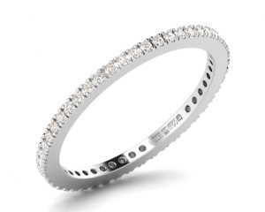 Earth Star Diamonds FR08841 Pave Set Full Eternity Ring in White Gold