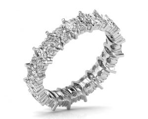 Earth Star Diamonds FR0888 Claw Set Full Eternity Ring in White Gold