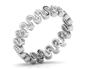 Earth Star Diamonds FR0893 Bezel Set Full Eternity Ring in White Gold
