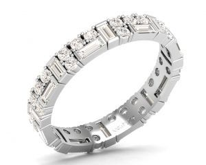 Earth Star Diamonds FR0994 Claw Set Full Eternity Ring in White Gold