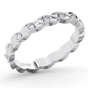 Earth Star Diamonds FR2027 Flush Set Full Eternity Ring in White Gold