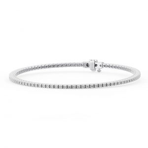 Earth Star Diamonds FTB014816 Claw Set Round Diamonds Tennis Bracelet in White Gold