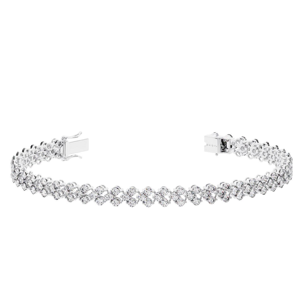 94b936d78e5e Brand New 6.00 carat Round Brilliant Cut Diamonds Double Row Tennis Bracelet  9K Gold Hallmarked By Assay Office London