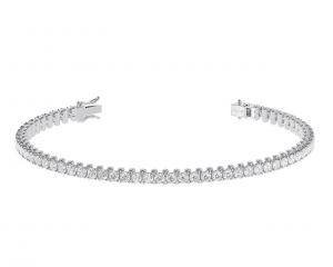 Earth Star Diamonds TB0131 Round Brilliant Cut Diamonds Tennis Bracelet in White Gold