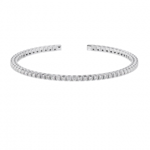 Earth Star Diamonds TB0134 Claw Set Tennis Bracelet in White Gold