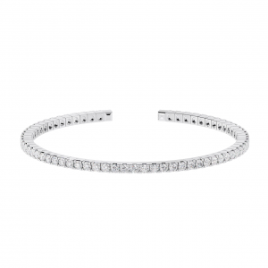 Earth Star Diamonds TB0135 Claw Set Tennis Bracelet in White Gold