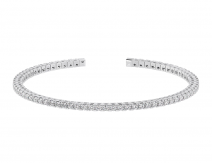 Earth Star Diamonds TB0136 Claw Set Tennis Bracelet in White Gold