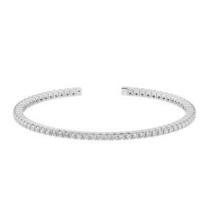 Earth Star Diamonds TB0137 Claw Set Tennis Bracelet in White Gold